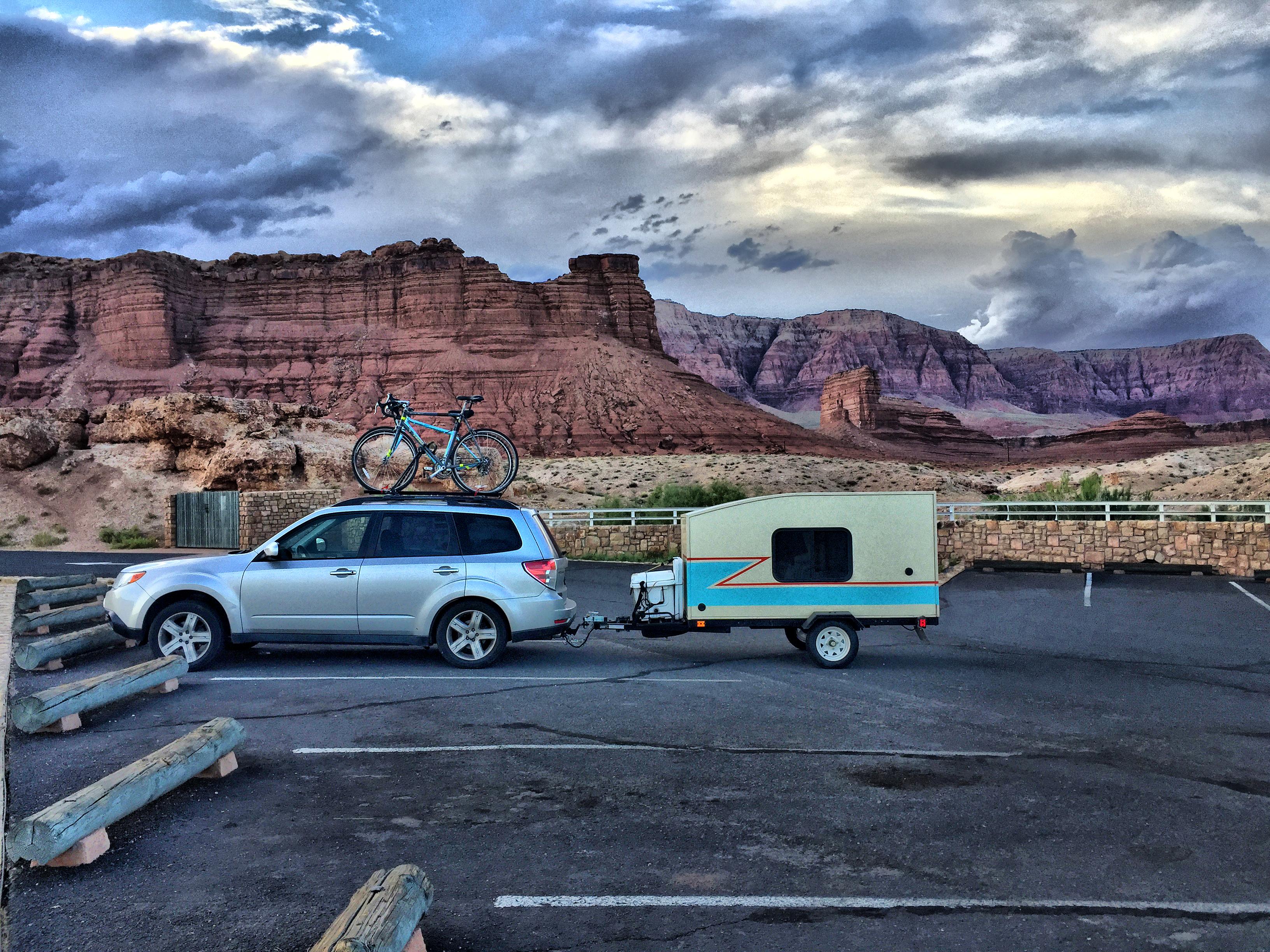 my mini trailer outdoors